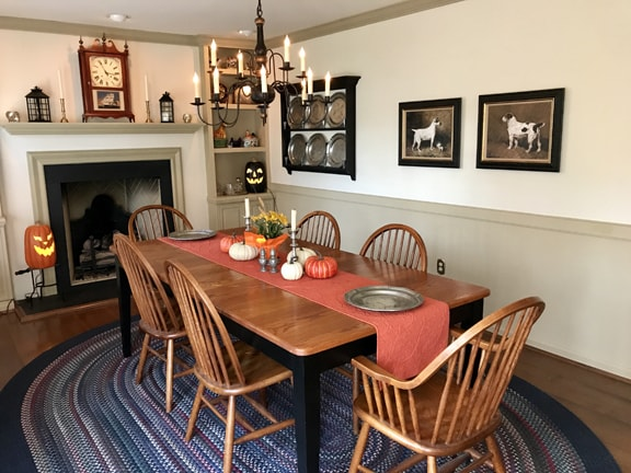Custom Dog portraits in dining room